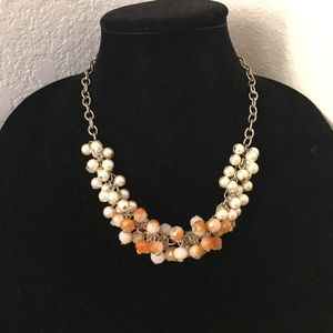No Brand | Pearl & Crystal Necklace